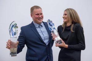 A. Palšytė ir A. Gudžius metų sportininkų titulus skirtų vienas kitam
