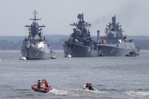 """Rusijos laivynas šalia Karaliaučiaus šaudė iš sistemų """"Grad"""" ir """"Gvozdika"""""""