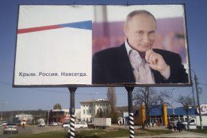 V. Putinas Krymo aneksijos klausimą iškėlė per pasitarimą siaurame rate?