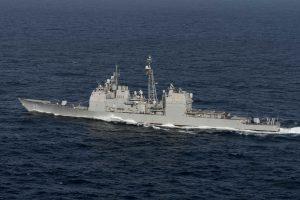 Rusijos laivas agresyviai manevravo netoli JAV kreiserio