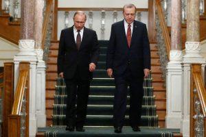 R. T. Erdoganas ir V. Putinas: paliaubos Alepe nebegali būti pažeidinėjamos