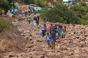 Čilėje per potvynius žuvo keturi žmonės, be vandens liko 4 mln. gyventojų