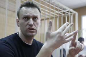 Maskvoje sulaikyta apie 500 žmonių, nubaustas A. Navalnas