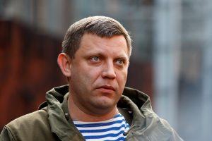 """Ukrainos separatistų lyderis A. Zacharčenka atsisako """"Malorosijos"""" projekto"""