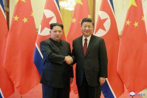 Pekine susitiko Kinijos ir Šiaurės Korėjos vadovai