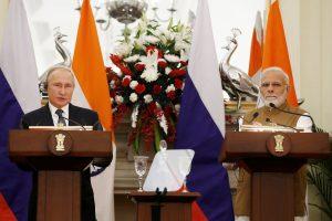 Rusijos prezidentas V. Putinas susitarė dėl ginkluotės pardavimų Indijai