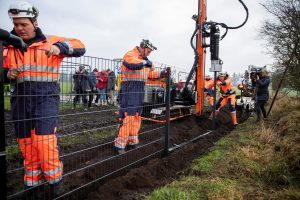 Kiaulių maro grėsmė: danai stato tvorą Vokietijos pasienyje