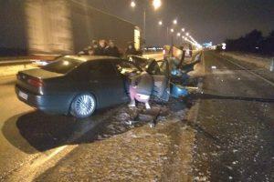 Ukrainiečio mašina atsitrenkė į atitvarus
