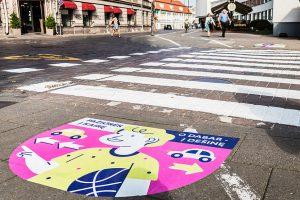 Rugsėjo 1-ąją sostinės perėjose moksleivius pasitiks spalvingi piešiniai