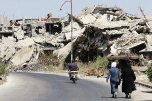 Sirijos armija paskelbė nutraukianti paliaubas