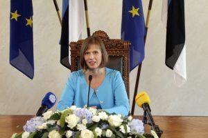 K. Kaljulaid Estijos rusų nelaikys išskirtine visuomenės grupe