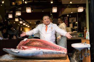 Japonijoje mėlynasis tunas parduotas už 636 tūkst. dolerių