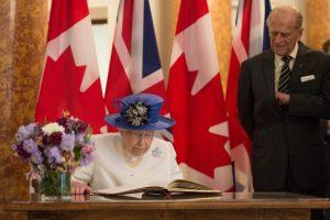 Britanijos karalienė paminėjo 150-ąsias Kanados valstybingumo metines