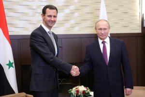 Įvardijo galimas V. Putino ir B. al-Assado susitikimo pasekmes