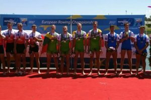 Lietuvos irkluotojų kvartetas Europos čempionate iškovojo auksą