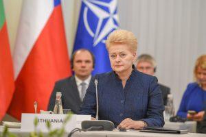 D. Grybauskaitė: be vienybės NATO gresia tapti nereikalinga
