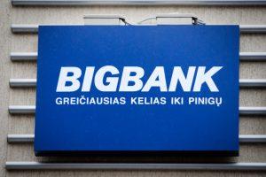 """""""Bigbank"""" pelnas Lietuvoje šiemet išaugo beveik tris kartus"""