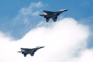 Paskutinę 2017-ųjų savaitę NATO naikintuvai du kartus lydėjo Rusijos orlaivius