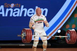 Sunkiaatletis A. Didžbalis – pasaulio vicečempionas!