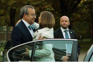 Darbą baigiantis Estijos prezidentas surengė atsisveikinimo vakarienę