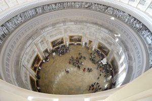 D. Trumpo inauguracijos proga atnaujintas Kapitolijaus kupolas