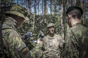Į pratybas Lietuvoje atvyko Jungtinės Karalystės kariai
