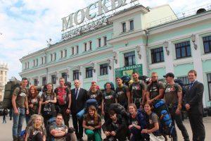 """Ambasadorius Maskvoje pasitiko """"Misijos Sibiras"""" dalyvius"""