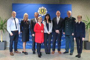 Lietuvos policijos mokyklą aplankė svečiai iš Europos policijos sąjungos