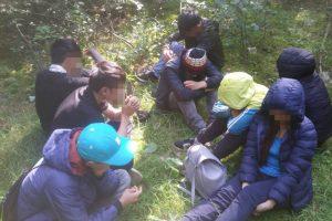 Pasieniečių operacijos metu Lazdijų rajone sulaikyta vietnamiečių migrantų grupė