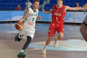 Lietuvos šešiolikmečiai krepšininkai Europos pirmenybes pradėjo pralaimėjimu