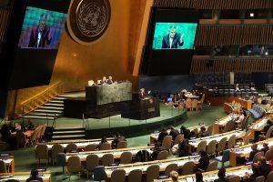 """JT Generalinė Asamblėja Rusiją  pavadino """"okupuojančia valstybe"""""""