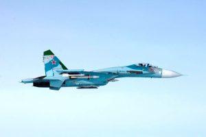 Pentagonas rusų naikintuvo Su-27 skrydį pavadino nesaugiu