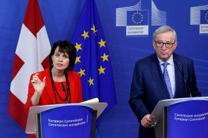 ES ir Šveicarija uždegė žalią šviesą bendradarbiavimo sutarčiai