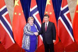 Kinijos prezidentas sveikina santykių su Norvegija normalizavimą