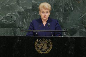 Prezidentė: Kremlius nesugeba pažaboti savo neapykantos Vakarams