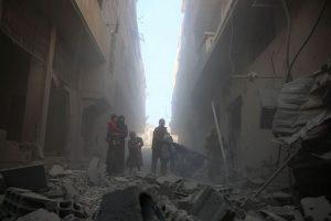 Šiaurės Sirijoje per antskrydžius žuvo mažiausiai 20 civilių