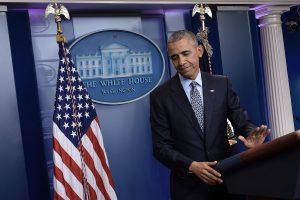 B. Obama per paskutinę spaudos konferenciją įspėjo D. Trumpą