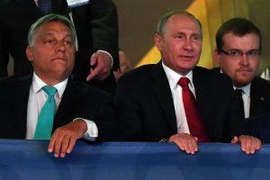 V. Putinas atvyko vienos dienos vizito į Budapeštą