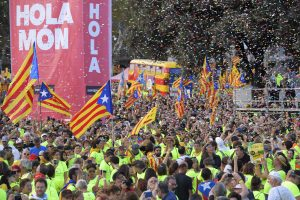 Katalonijoje mitinge už nepriklausomybę dalyvaus šimtai tūkstančių žmonių