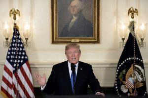 D. Trumpas pristatė JAV strategiją Irano atžvilgiu