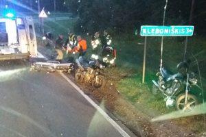 Kaune motociklininkas susižalojo koją