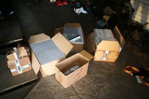 Marijampolės rajone su įkalčiais sulaikyti trys cigarečių krovikai