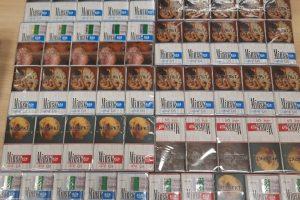 Baltarusis po drabužiais slėpė 100 pakelių kontrabandinių cigarečių