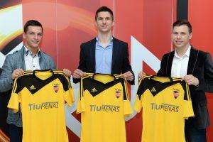 """Ambicinga Vilniaus FK """"MRU"""" komanda sieks prizinės vietos LFF I lygoje"""