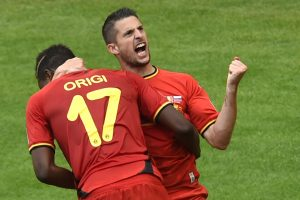 Vangokai rungtyniavę Belgijos futbolininkai mačo pabaigoje palaužė Rusijos rinktinę