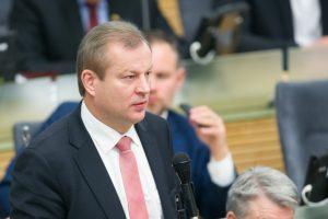 Pasiūlymai: teisingumo ministrė – M. Vainiutė, Seimo vicepirmininkas – M. Bastys