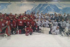 Lietuvos jaunių ledo ritulio rinktinė antrą kartą nugalėjo Gardino ekipą