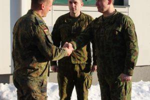 Lietuvos kariuomenės ir NATO bataliono vadovai aptarė karinio rengimo planus