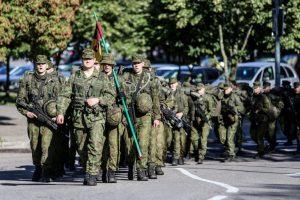 Paskutinis kariūnų išbandymas – trisdešimties kilometrų žygis