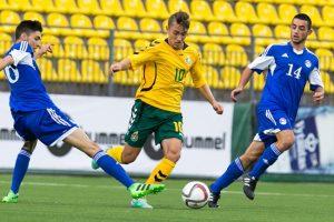 Puikus G. Sirgėdo įvartis lėmė Lietuvos jaunimo futbolo rinktinės pergalę